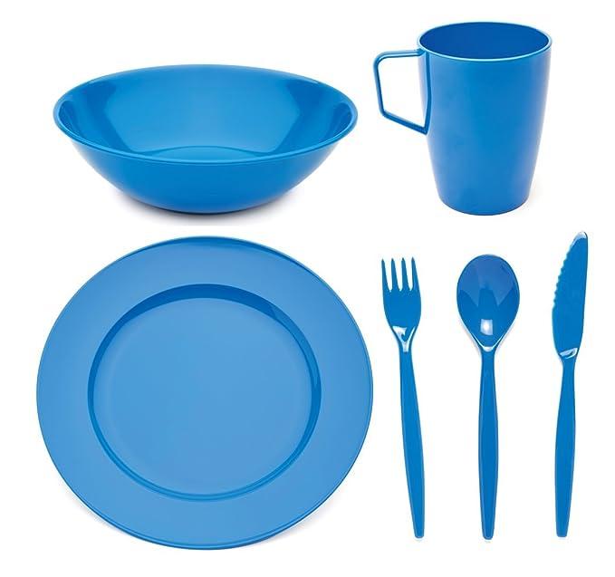 Highlander Poly Plastic Camping Dinner Plate 24cm Olive