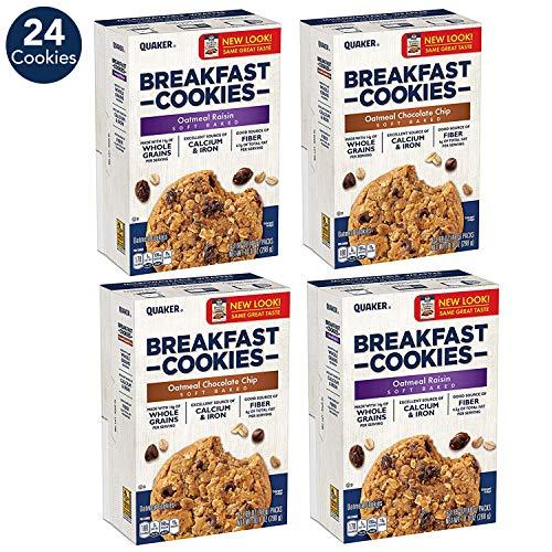 4-Pack Quaker Breakfast Cookies Variety Pack $10.12