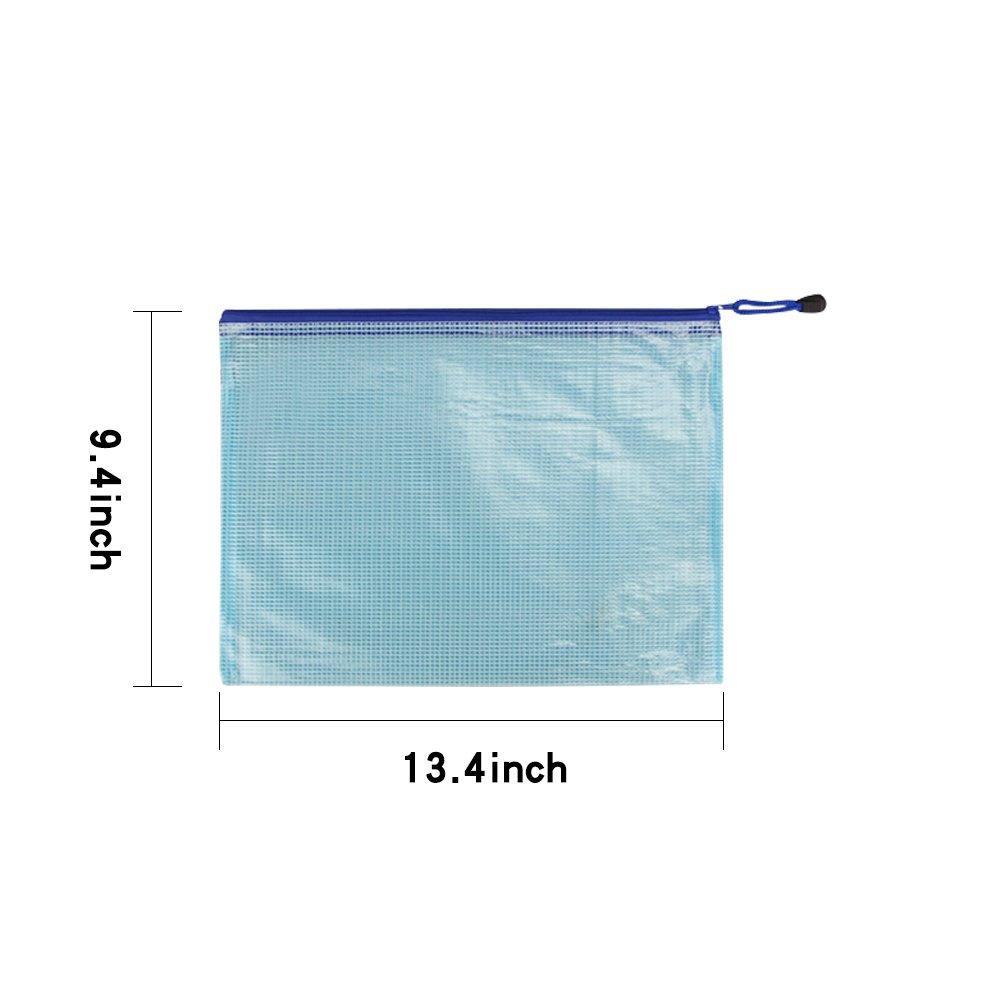 La Carpeta Transparente De Documentos A4 Con Botón A Presión Y Bolsillo De Etiquetas, 15 Piezas, Color Surtido, Azul Rojo Verde Amarillo Blanco Sobre De Carpeta Plastico Transparente Impermeable