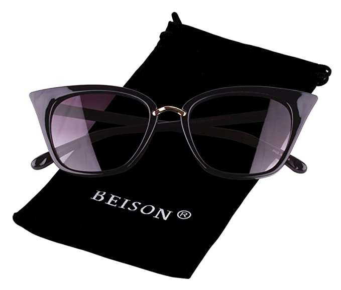 Amazon.com: beison Womens Mod Fashion de ojo de gato ...