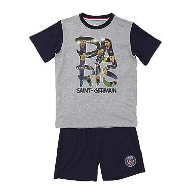 c1b9869c69a239 Pyjama Short Players PSG - Licence Officielle - Bleu. Taille EU - 4 Ans