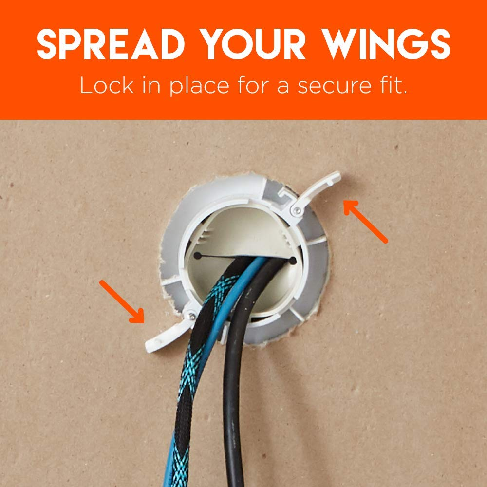 Echogear In-Wall Cable Management Kit Hider Conceals Low Voltage Cords Includes