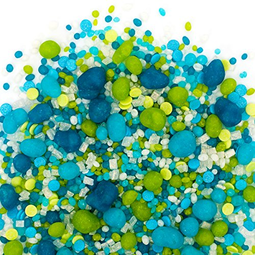 Candy Sprinkles | Under The Sea Candyfetti | 8oz Jar | Green and Blue | MADE IN THE USA! | Edible Confetti by Sweets Indeed (Image #3)'