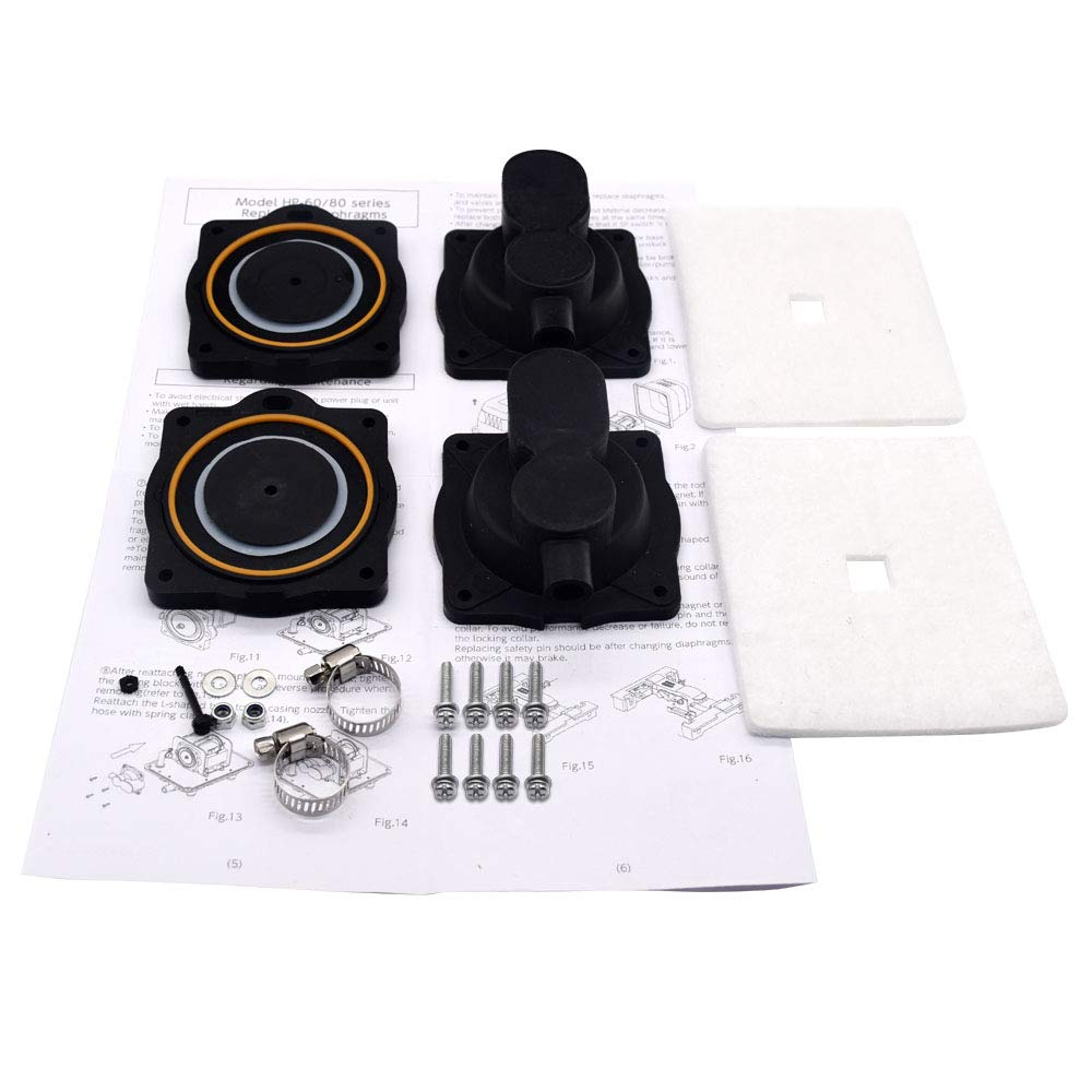 HP60/80 Air Pump Rebuild Complete Kit for Hiblow HP 80, HP 60 with The Installation Manual