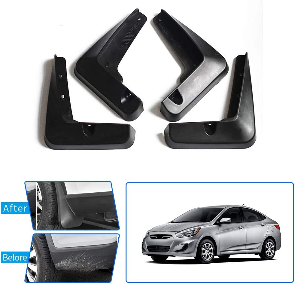 Upgraded Car Mud Flaps Mudguards for PORSCHE Macan 2014-2017 Front Rear Splash Guards Car Fender Styling /& Body Fittings Black 4Pcs