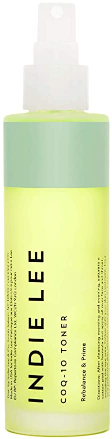 Indie Lee CoQ-10 Toner Mist - Balancing Priming Face Spray with Hyaluronic Acid, Aloe + Chamomile to Hydrate + Refresh Skin (4oz / 125ml)