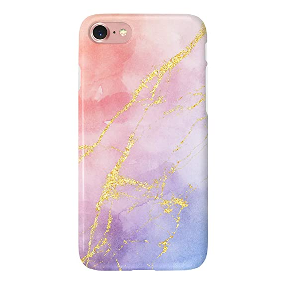 2f473699c1 uCOLOR Watercolor Gradient Gold Veins Case Compatible with iPhone 6S 6  iPhone 8/7 Cute
