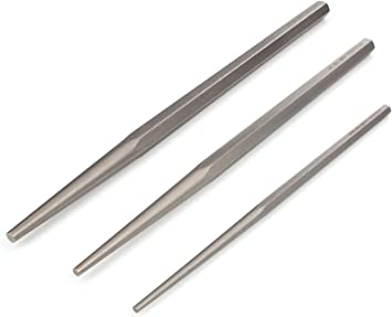 3Pce Long Taper Punch Set DIY Tools Tempered Carbon Steel Best Quality
