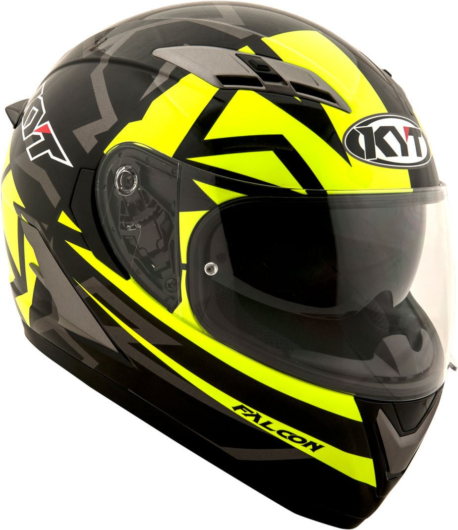 Amazon.es: KYT casco Moto Cross off-road Falcon, Faster Yellow, talla S 55 - 56 cm