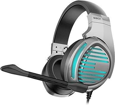 Computadora de Escritorio con Cable Auricular for Juegos Xbox One con el Mic Playstation 4 Auriculares Gamer Auriculares con el micrófono: Amazon.es: Electrónica