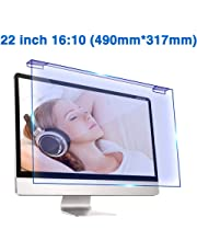 22 Inch HD Anti-Blu-Ray Desktop PC Screen Protector/Removable Hanging Anti-Glare Computer Screen Protector Films - Radiation Reduction