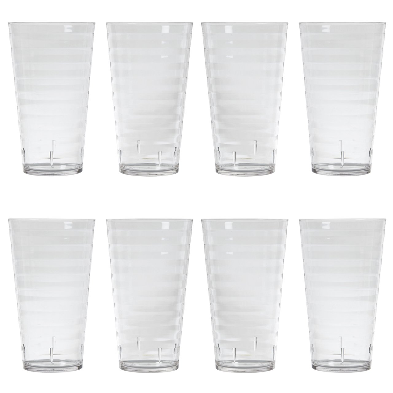 Splash 18-ounce Clear Plastic Tumblers | set of 8 by US Acrylic