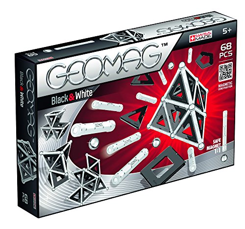 Geomag Playset (68 Piece), Black/White, One Size