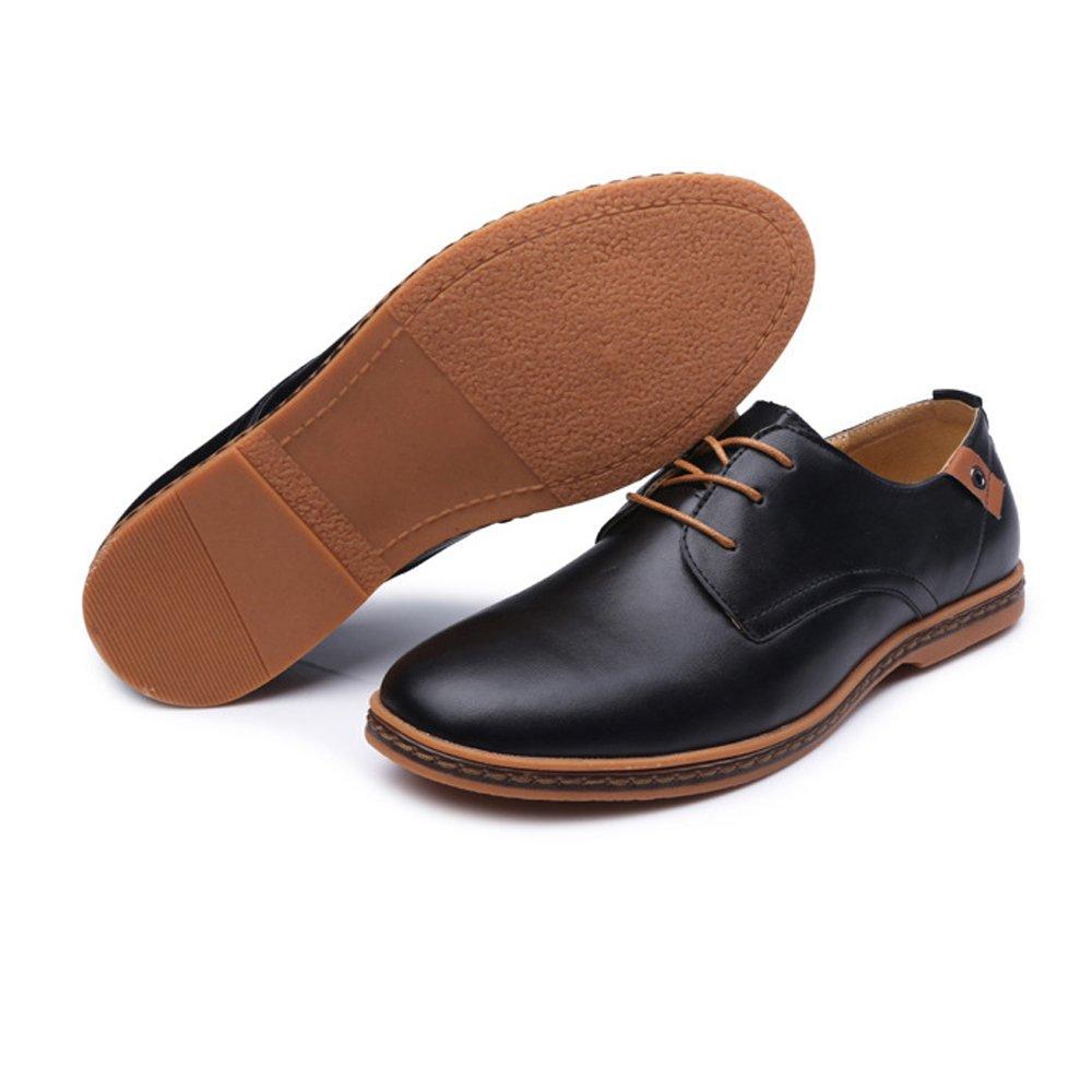 SCSY-Oxford-Schuhe Einfache Herren Große Müßiggänger PU Leder Vamp Vamp Vamp Lace Up Business Oxfords Stud Decor  36c3f5