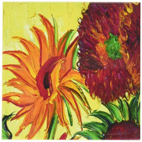 (Rikki Knight Van Gogh Sunflowers Design Art Ceramic Tile, 4 by 4-Inch)