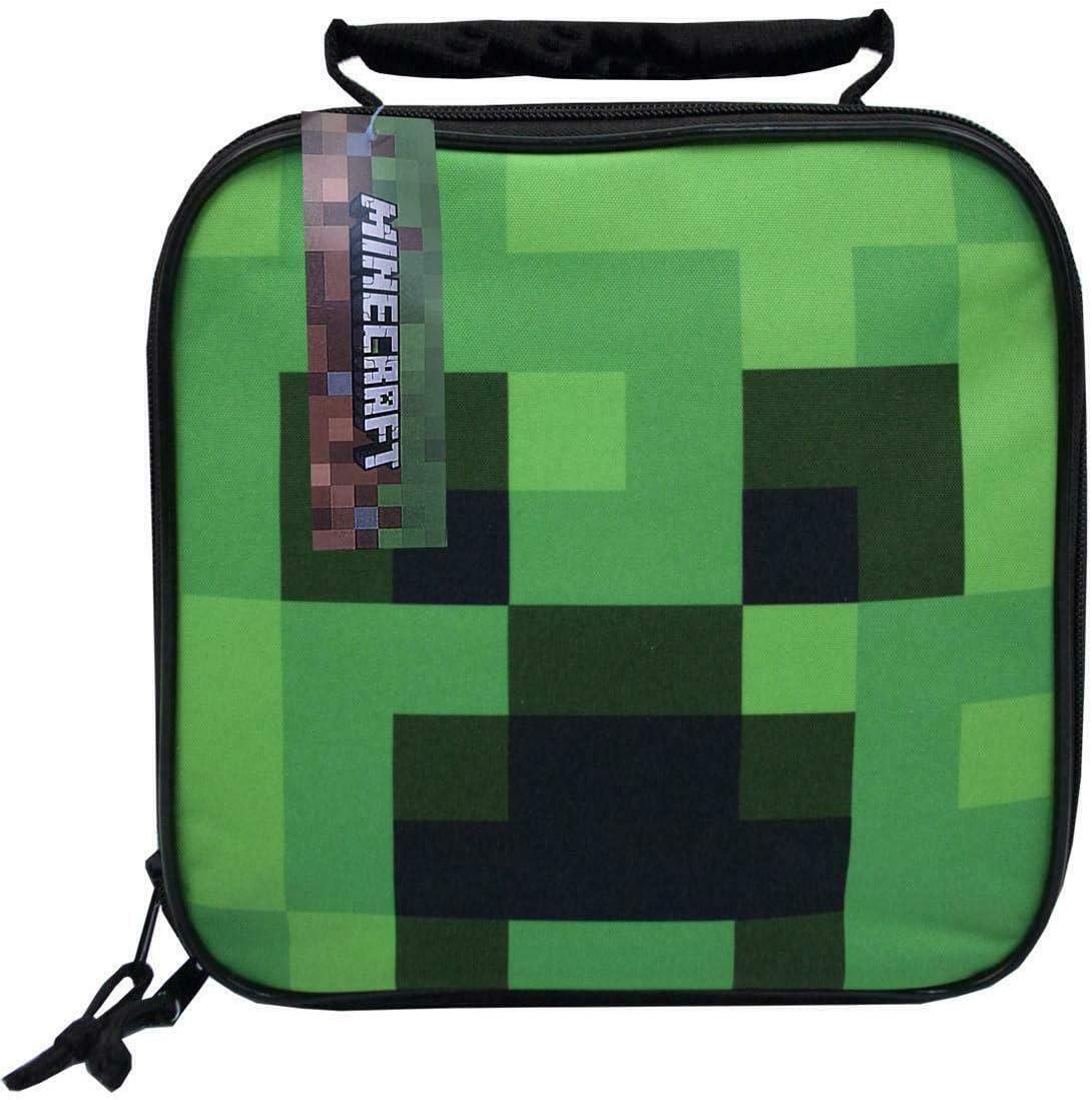 Bolsa de Minecraft Creeper presentación Que los niños Fiambrera Escuela Infantil: Amazon.es: Equipaje
