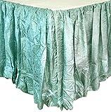 Edie 0725K21 Silkanza Balloon Decorative Bed Skirt, Seafoam, 78 x 80 x 21'' Drop