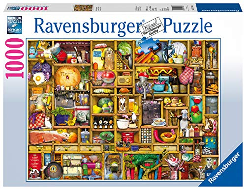 Ravensburger Kitchen Cupboard 1000 Piece Jigsaw Puzzle for Adults - Every Piece is Unique, Softclick Technology Means Pieces Fit Together Perfectly (Best Selling Ds Games Of All Time)