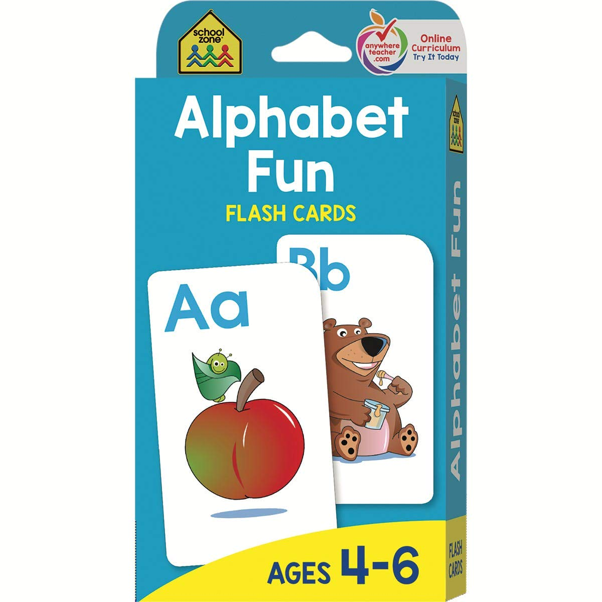 School Zone Publishing 2325991 DDI Flash Cards - Alphabet Fun - Case of 12 by School Zone