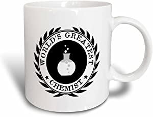 3dRose mug_164892_3 Worlds Greatest Chemist Chemistry Job Pride Black Badge Graphic Magic Transforming Mug, 11-Ounce