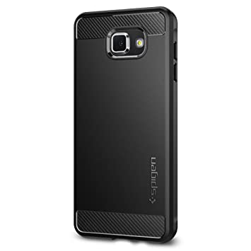 new style 27c71 be898 Samsung Galaxy A7 2016 Case, Spigen [Rugged Armor] Elastic [Black] Ultimate  Protection From Drops and Bumps – [Carbon Look] Protective Case For ...