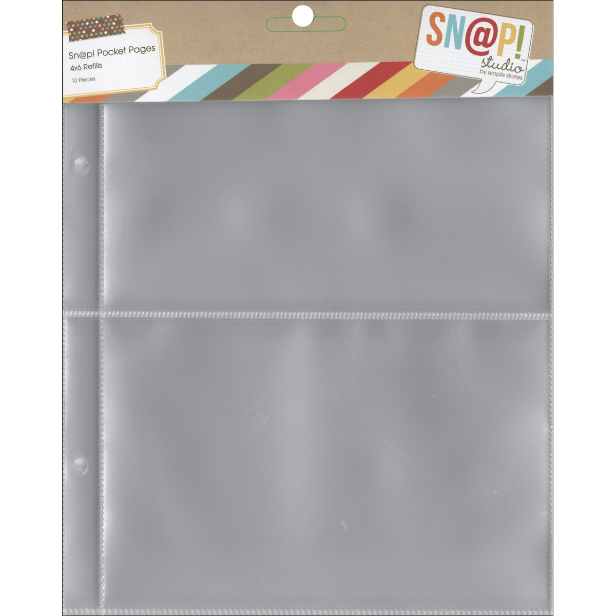 Simple Stories 6x8-inch Page Protectors with (2) 4x6-inch Divided Pockets, 10-Pack 2003