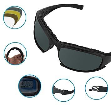 Deportivas gafas de sol polarizadas, UV400 protección gafas de motocicleta, TR90 Durable – Gafas