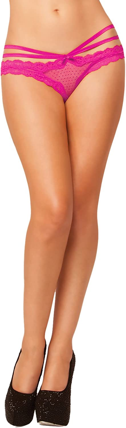 SEVEN TIL MIDNIGHT Womens Laila Open Crotch Panty with Strappy Details