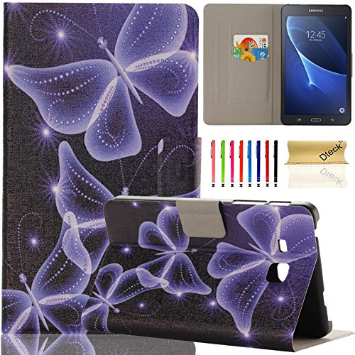 Galaxy Tab A 7.0 inch Case, Samsung SM-T280, Dteck Ultra Slim PU Leather Flip Stand Case with Cards Slots Protective Cover for Samsung Galaxy Tab A 7.0 T280 T285 (01 Shine Butterfly)