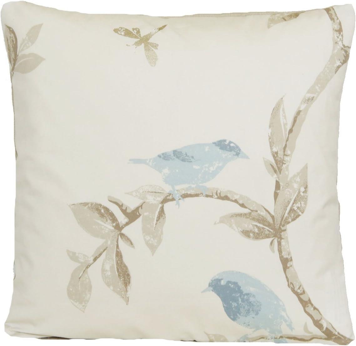 Nina Campbell Blue Birds Decor Pillow Case Cream Cushion Cover Fabric Bird Cage Walk
