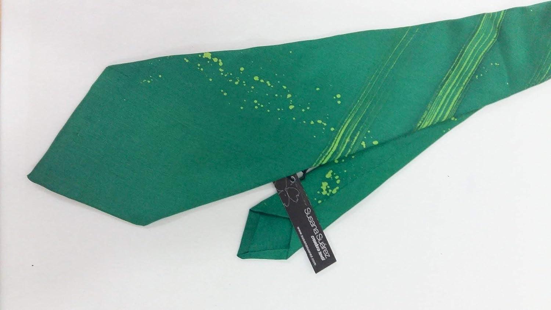Corbata de seda- Regalo ideal- Corbata verde- Corbata novio ...
