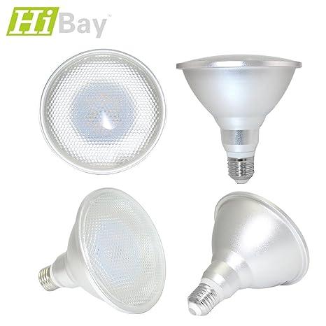 HiBay - Bombilla LED PAR38 E27 de 12 W equivalente a 90 W, luz blanca
