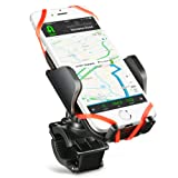 Bike Mount Bicycle Phone Holder, (Multiple Protections) Mpow Universal Handlebar Cradle Clamp Phone Holder with One-button Released, 360 Degrees Rotatable for Samsung, iPhone 7, 6s, 6, 5, 6s 7 Plus Up to 5.7in
