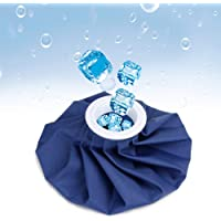 """ADTALA Reusable Ice Bag For Injuries - Soft Cloth Pain Relief Hot And Cold Therapy Flexible Medical Instant First Aid Kit, Water Ice Cubes Refillable Pack For Knee Ankle Shoulder Back Elbow Head (Multi colour Size-9"""")"""