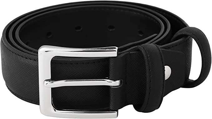 """NEW MENS LEATHER 1 1//2/"""" INCH DRESS BELT BLACK BROWN WHITE SIZE S LARGE XL M"""