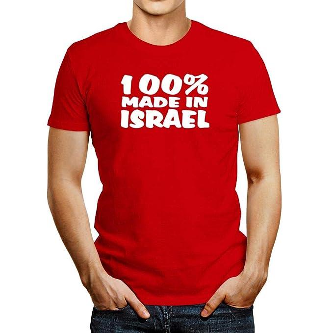 9285993cb Amazon.com: Idakoos 100 Made in Israel T-Shirt: Clothing