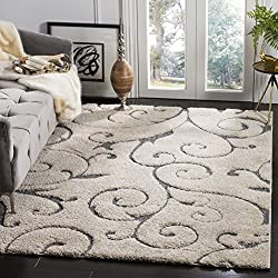 Safavieh SG455-1160-6 Area Rug, 6' x 9', Grey/Light Blue
