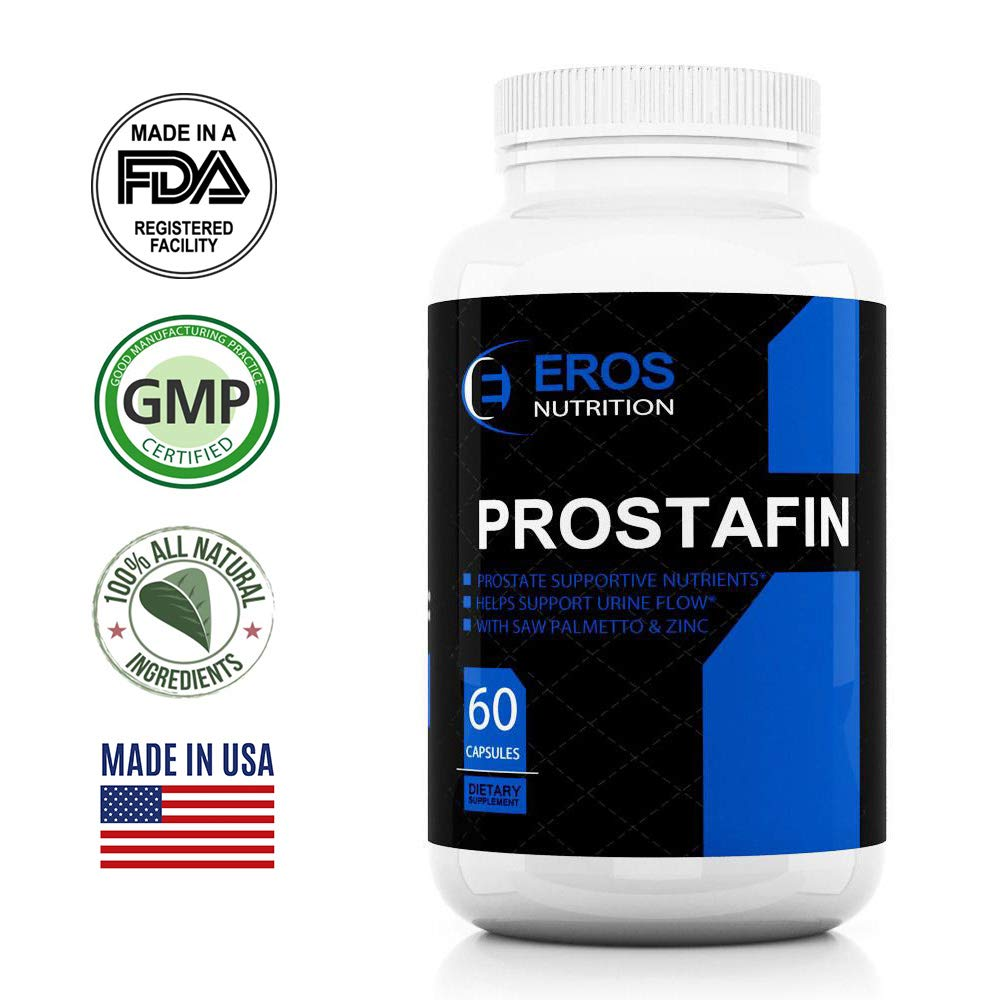 Prostafin Prostate Support Formula-Saw palmetto - Beta-sitosterol 40% Prostate Supplement - 60 Capsules