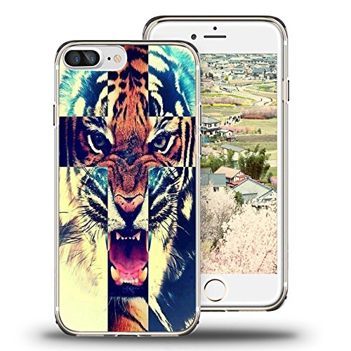 finest selection a685f 0e433 iPhone 7 Plus Case, iPhone 8 Plus Case, Viwell TPU Soft Case Rubber  Silicone Aztec Tigers