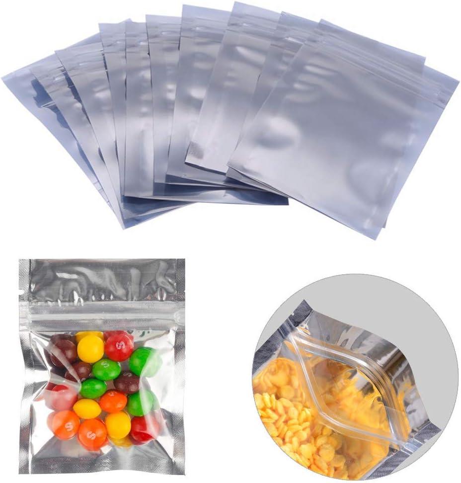 "4.7x7.1/"" 100 New Flat Orange Aluminum Mylar Foil Zip Lock Bags Pouch 12x18cm"