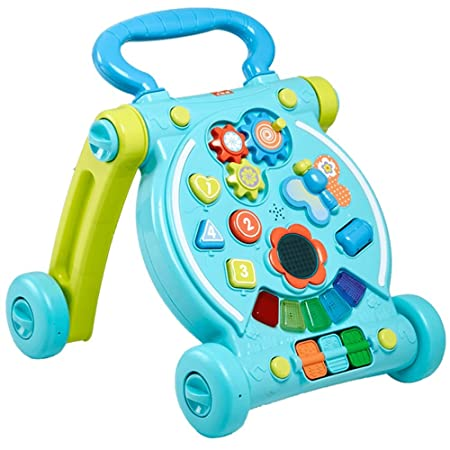 Andador de bebé, pedal de música multifunción antirrobo de bebé ...