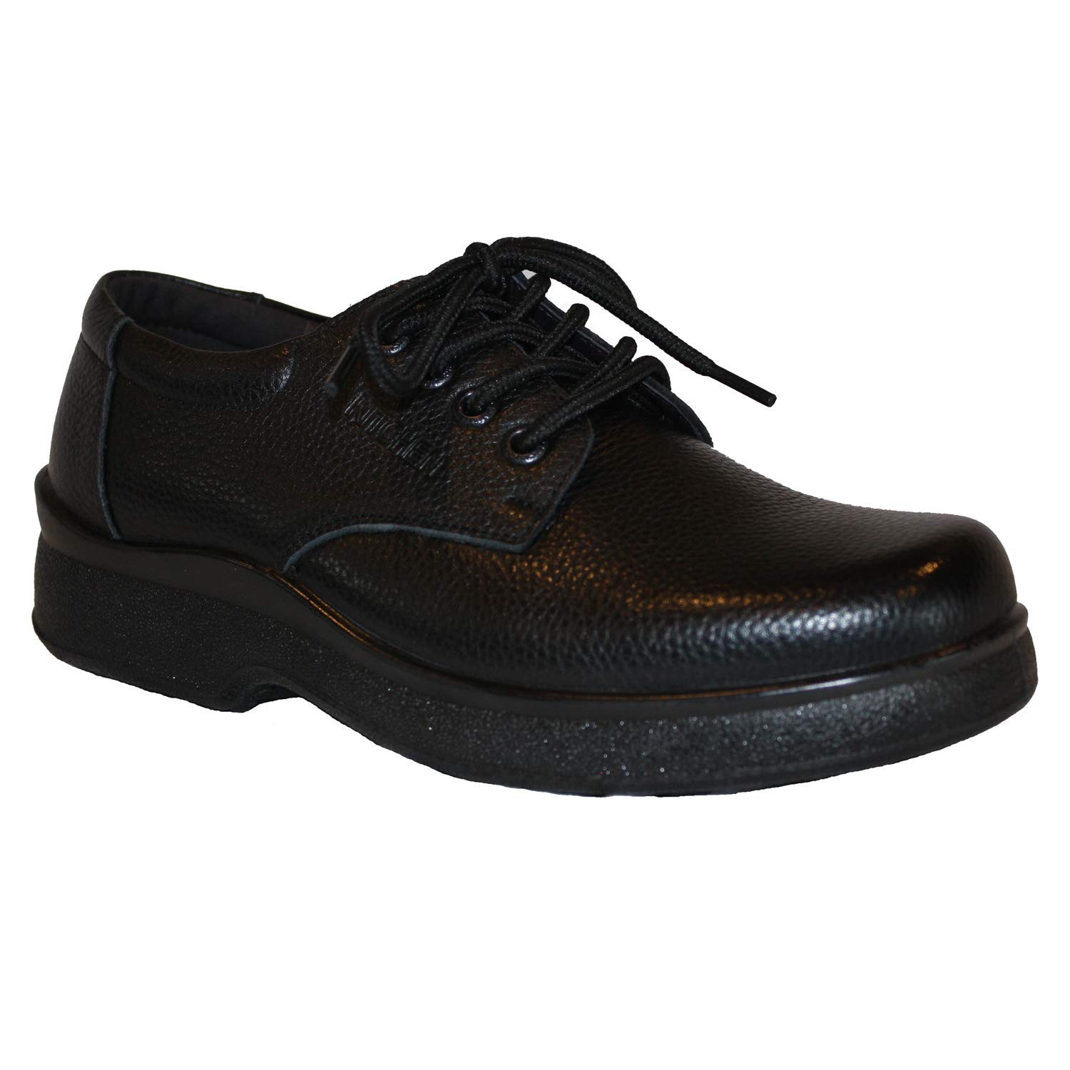 Shoes For Kitchen Men's Professional Nonslip Comfort Work Black Leather Shoe, Water and Oil Resistant (10.5) by Shoes For Kitchen
