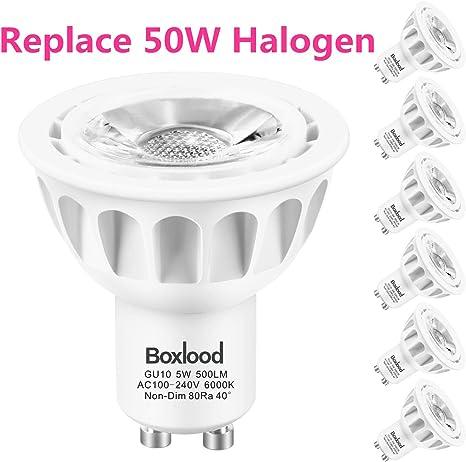 Amazon.com: Bombillas LED GU10, no regulables., 5.0watts ...