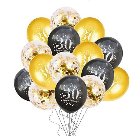 QUQUET 30/40/50 Decoraciones de Feliz cumpleaños Globos de ...