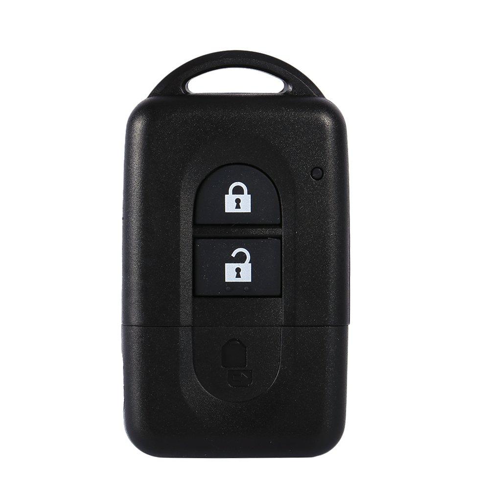 Qiilu QL00302 Remote 2 Buttons Auto Car Key Fob Shell Cover Case for Nissan Micra Juke Duke Navara XTrail