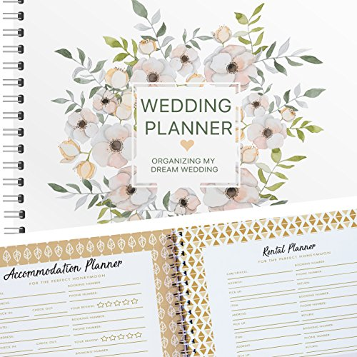 "Planning The Wedding Of My Dreams, A Complete 80-Pages Hardcover Checklist Planner To Guide You Through Every Step Of Organizing The Perfect Wedding, From ""Before I Do"" To Planning Your Honeymoon!"