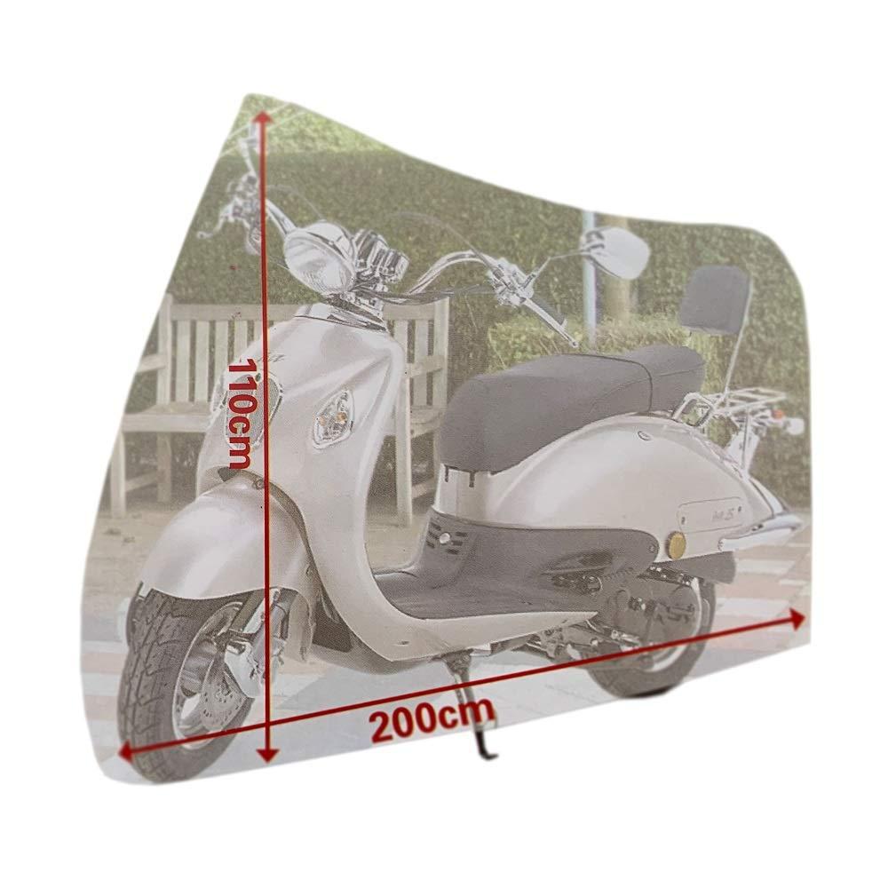 Megaprom 200 x 110cm Roller Moped Mofa Rollerplane Rollerabdeckung Fahrradplane Abdeckplane Schutzh/ülle Garage