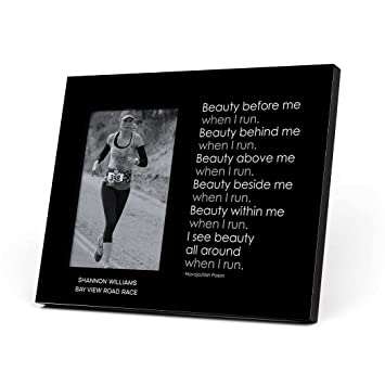 Amazon.com: Personalized Running Photo Frame | Beauty Before ...