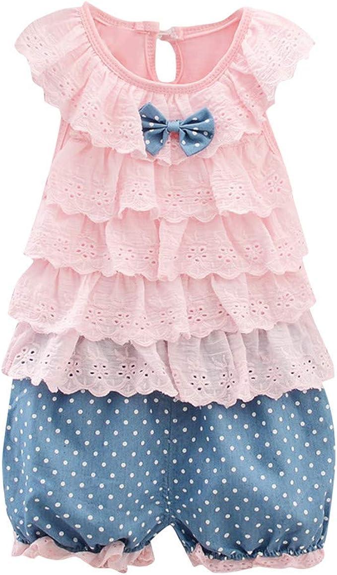 Vestiti Eleganti 12 Mesi.Daoope Vestiti Per Bambine Elegante Estivi 3 4 Anni 12 18 24 Mesi