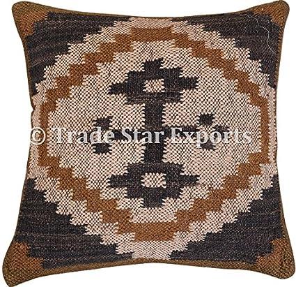 Amazon Trade Star Kilim Pillow 40x40 Handmade Indian Cushion Magnificent Spencer Home Decor Pillows